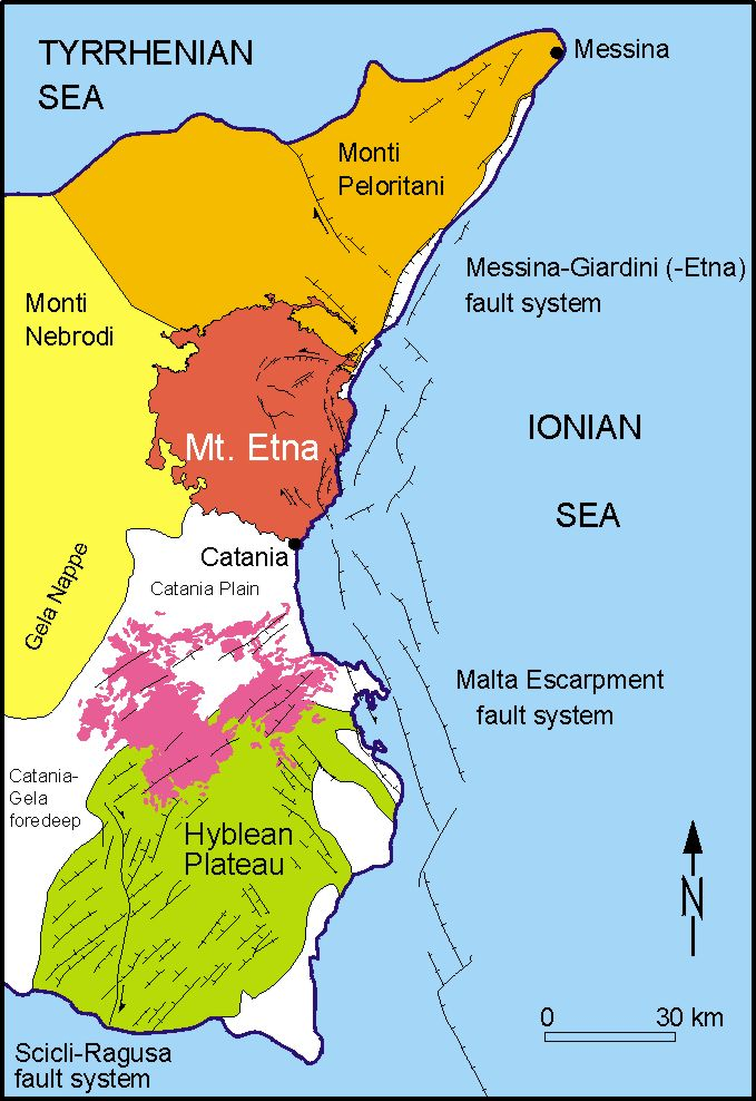 Structural map  sc 1 st  Italyu0027s Volcanoes & Geological setting of Etna